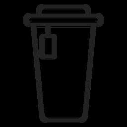Icono de taza de café de plástico