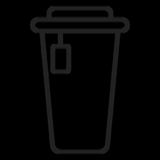 Icono de taza de caf? de pl?stico