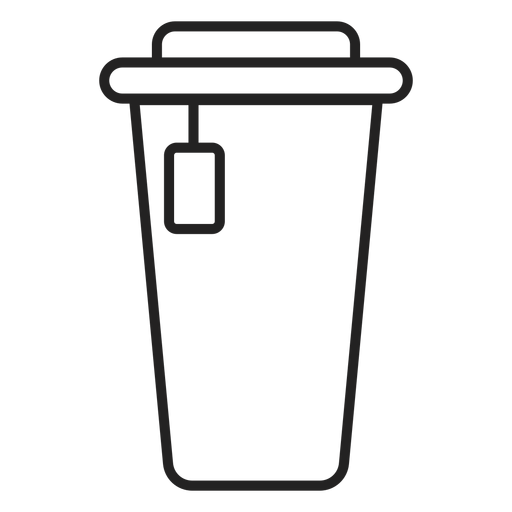 Plastic coffee cup icon