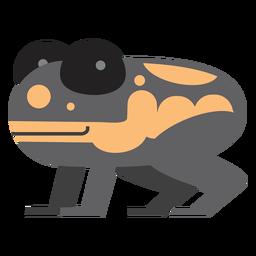 Ilustración de rana dardo venenoso