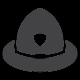 Policeman helmet flat icon