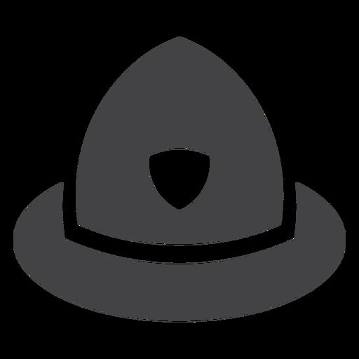 Ícone plana de capacete de policial Transparent PNG