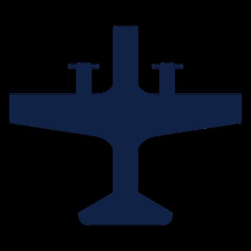 Silueta de vista superior de avión de hélice Transparent PNG
