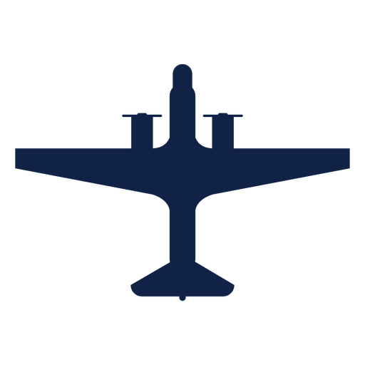 Propeller plane top view silhouette Transparent PNG