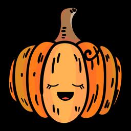 Ícone dos desenhos animados de abóbora