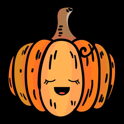 Icono de dibujos animados de calabaza Transparent PNG