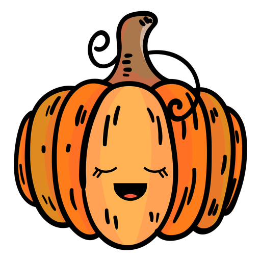 Pumpkin cartoon icon Transparent PNG