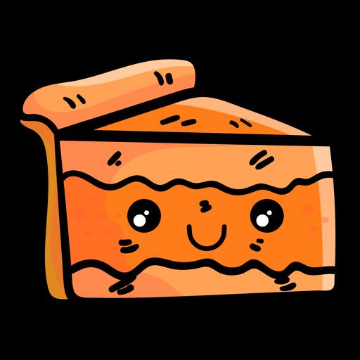 Icono de dibujos animados de rebanada de pastel de calabaza Transparent PNG