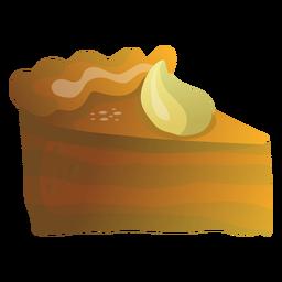 Ilustración de rebanada de pastel de calabaza