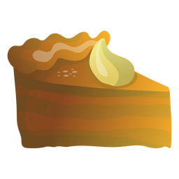 Pumpkin pie slice illustration
