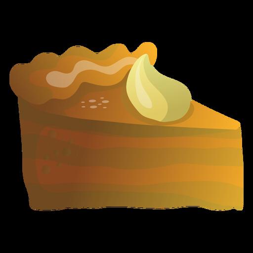 Pumpkin pie slice illustration Transparent PNG