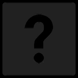 Ponto de interrogação ícone quadrado