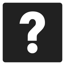 Question mark square icon