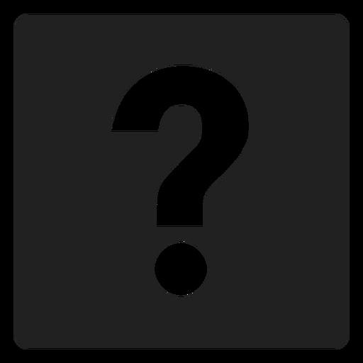 Ponto de interrogação ícone quadrado Transparent PNG