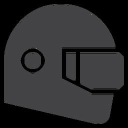 Icono plano del casco de carreras