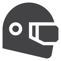 Rennhelm flache Symbol