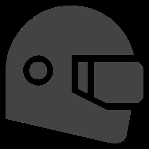 Ícone plana de capacete de corrida Transparent PNG