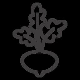 Ícone de traço de cultura de rabanete