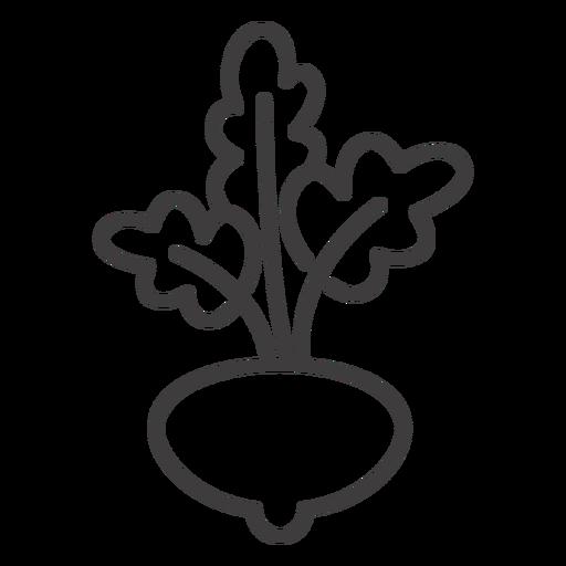Icono de trazo de cultivo de rábano Transparent PNG