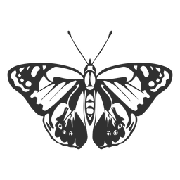 Realistic butterfly silhouette