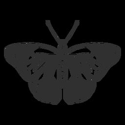 Silhueta de borboleta realista