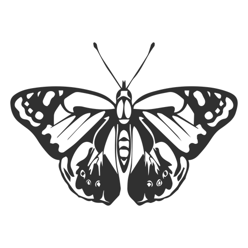 Realistic butterfly silhouette Transparent PNG