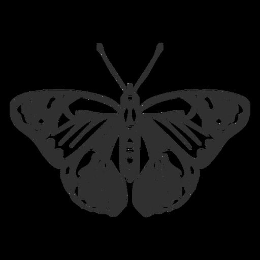 Silhueta de borboleta realista Transparent PNG