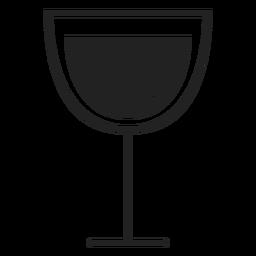 Ícone plana de copo de vinho vermelho