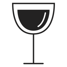 Red wine glass flat icon