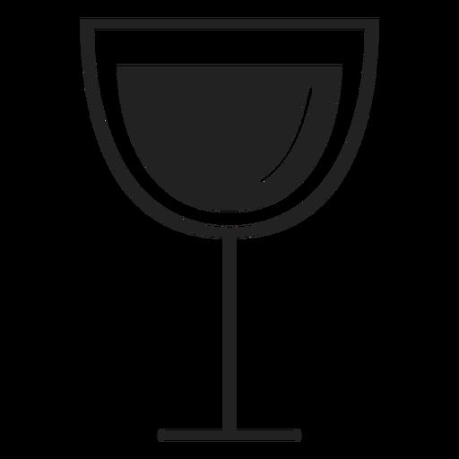 Ícone plana de copo de vinho vermelho Transparent PNG