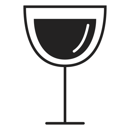 Red wine glass flat icon Transparent PNG