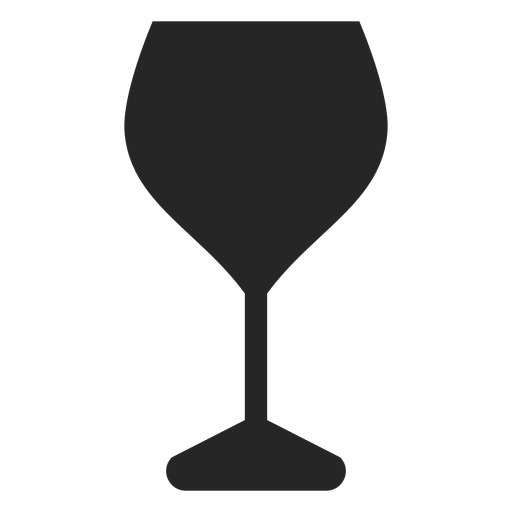 Iconos de restaurante de icono plano de copa de vino tinto