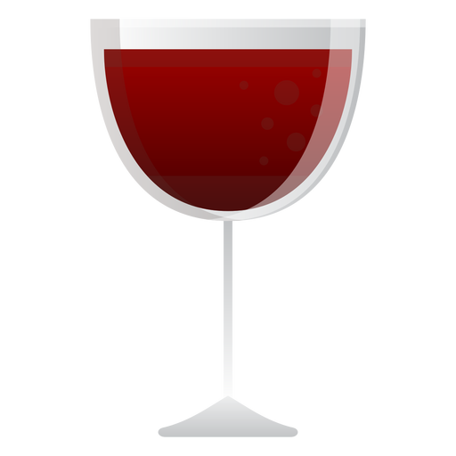 Red wine glass icon Transparent PNG