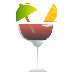 Red wine summer cocktail icon