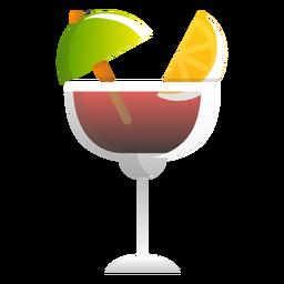 Rotwein-Sommer-Cocktail-Symbol