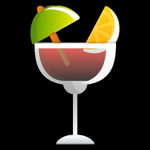 Icono de cóctel de vino tinto verano Transparent PNG