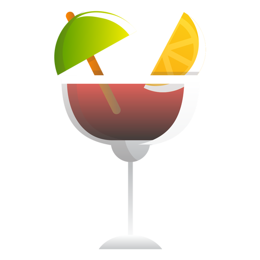 Red wine summer cocktail icon Transparent PNG
