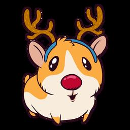 Dibujos animados de reno conejillo de indias