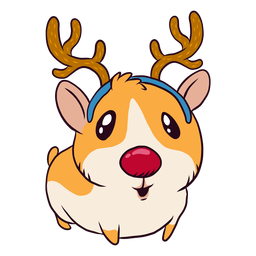 Reindeer guinea pig cartoon