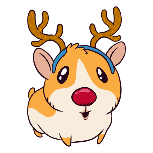 Dibujos animados de reno conejillo de indias Transparent PNG