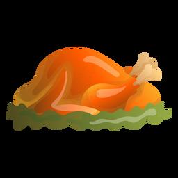 Ilustração de peru assado