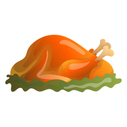 Roast turkey illustration