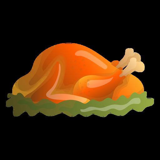 Ilustración de pavo asado Transparent PNG