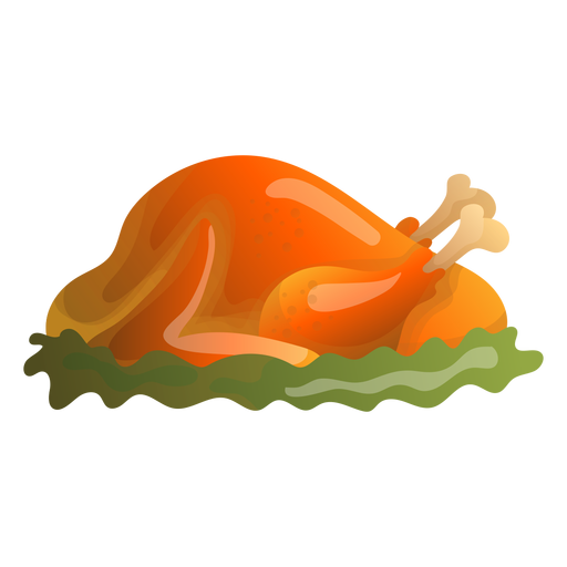 Roast turkey illustration