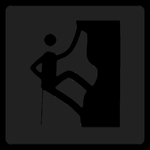 Escalada em rocha ícone quadrado Transparent PNG