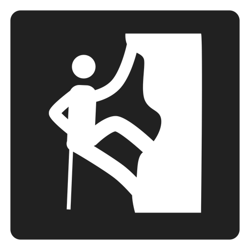 Rock climbing square icon Transparent PNG
