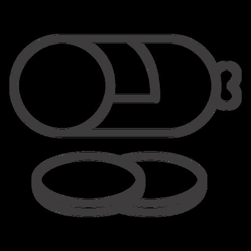 Icono de comida de movimiento de salami Transparent PNG