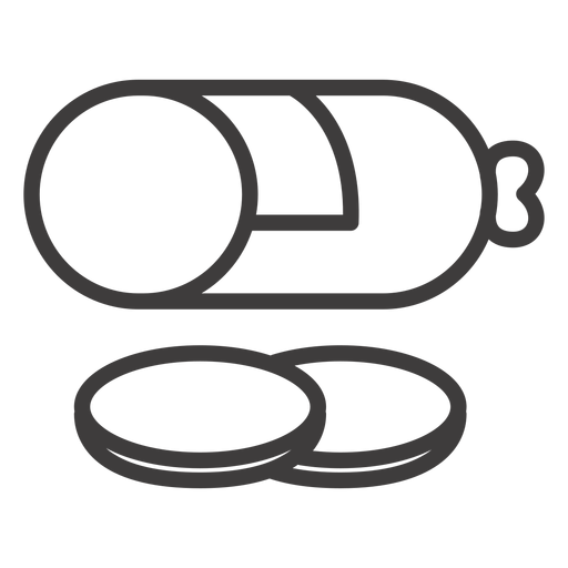 Salami Schlaganfall Lebensmittel Symbol Transparent PNG