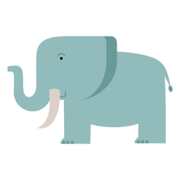 Savanna elephant illustration