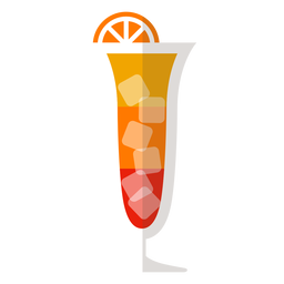 Sex am Strand-Cocktail-Symbol